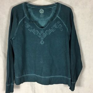 Life is good dark turquoise sweatshirt size XL